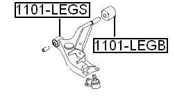 Сайлентблок AKITAKA 1101-LEGS (переднего рычага передний) DAEWOO