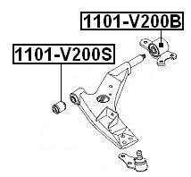 Сайлентблок AKITAKA 1101-V200S (передний переднего рычага)