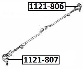 Наконечник рулевой AKITAKA 1121-807 DAEWOO