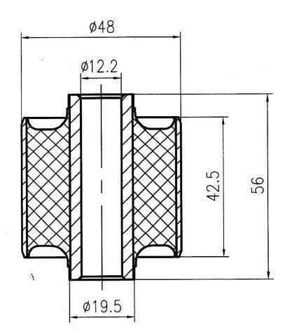 Сайлентблок AKITAKA 1201-002 (задней продольной тяги) KIA