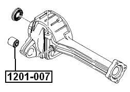Сайлентблок AKITAKA 1201-007 (заднего дифференциала) KIA