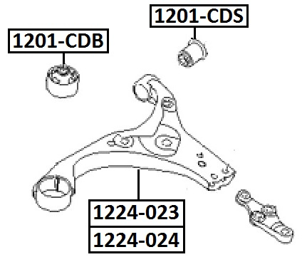 Сайлентблок AKITAKA 1201-CDS (переднего нижнего рычага задний) HYUNDAI