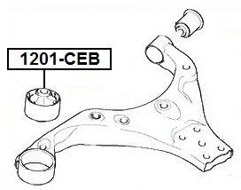 Сайлентблок AKITAKA 1201-CEB (переднего рычага задний) HYUNDAI