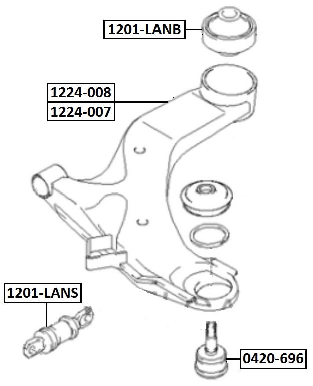 Сайлентблок AKITAKA 1201-LANB (переднего рычага задний) HYUNDAI