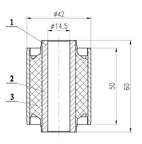 Сайлентблок AKITAKA 1201-NF4 (переднего нижнего рычага) HYUNDAI