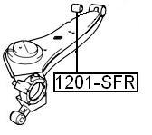 Сайлентблок AKITAKA 1201-SFR (заднего продольного рычага) HYUNDAI