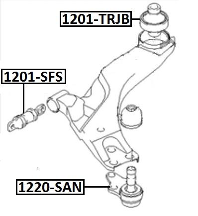 Сайлентблок AKITAKA 1201-SFS (переднего рычага передний) HYUNDAI