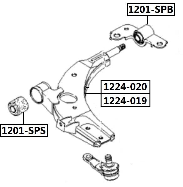Сайлентблок AKITAKA 1201-SPS (переднего рычага передний) KIA
