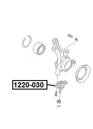 Опора шаровая AKITAKA 1220-030 HYUNDAI/KIA