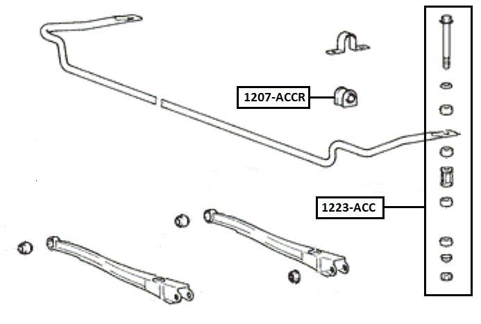 Тяга стабилизатора AKITAKA 1223-ACC HYUNDAI (передняя)
