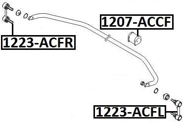 Тяга стабилизатора AKITAKA 1223-ACFL HYUNDAI (передняя L)