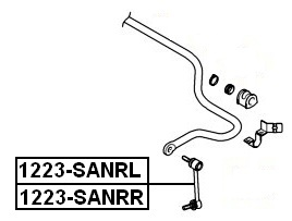 Тяга стабилизатора AKITAKA 1223-SANRR HYUNDAI (задняя R)