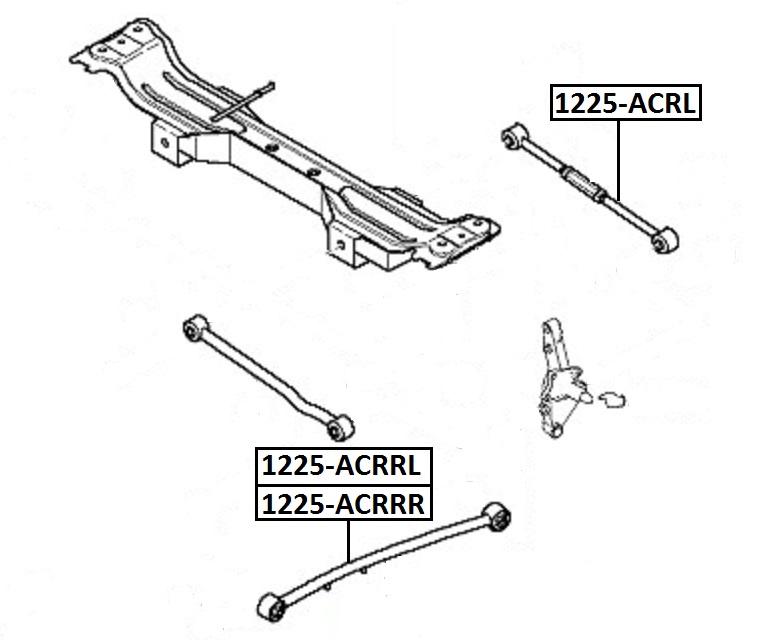 Тяга стабилизатора AKITAKA 1225-ACRL KIA (задняя поперечная регулируемая)