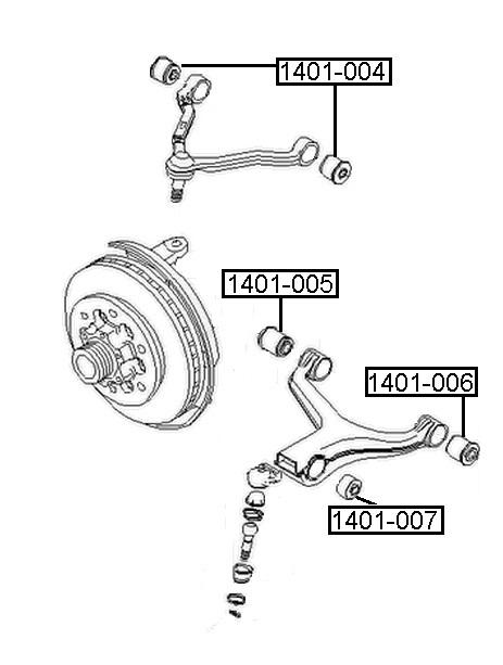 Сайлентблок AKITAKA 1401-005 (переднего нижнего рычага) SSANG YONG