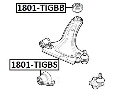 Сайлентблок AKITAKA 1801-TIGBS (передний переднего рычага) OPEL