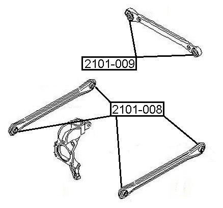 Сайлентблок AKITAKA 2101-008 (задней поперечной тяги) FORD