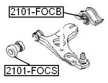 Сайлентблок AKITAKA 2101-FOCB (переднего рычага задний) FORD