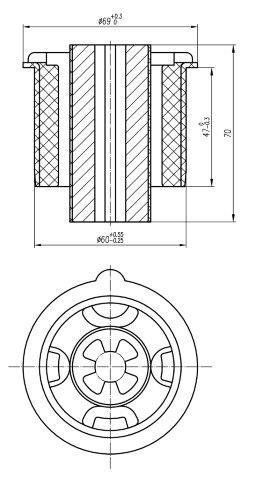 Сайлентблок AKITAKA 2101-FUSR (задней балки) FORD