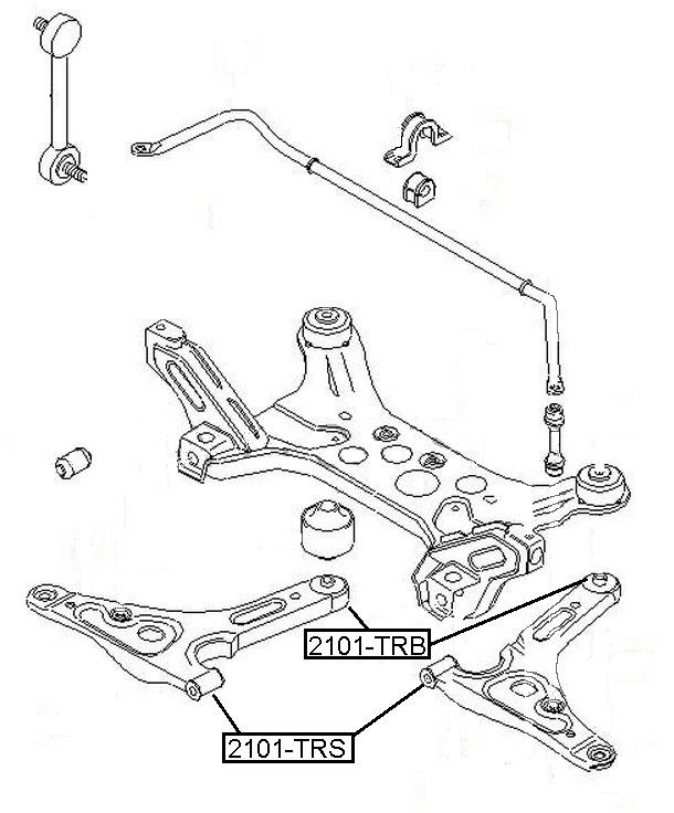 Сайлентблок AKITAKA 2101-TRB (переднего рычага задний) FORD