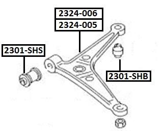 Сайлентблок AKITAKA 2301-SHB (переднего рычага задний) FORD