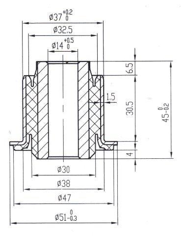 Сайлентблок AKITAKA 2401-DUS (переднего нижнего рычага) RENAULT