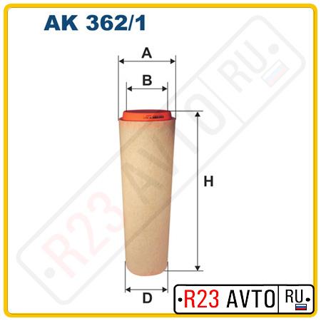 Воздушный фильтр FILTRON AK362/1