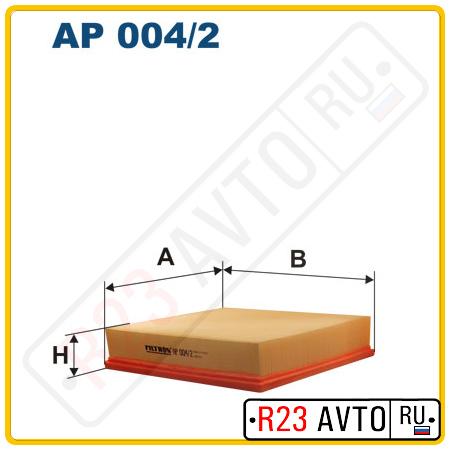 Воздушный фильтр FILTRON AP004/2