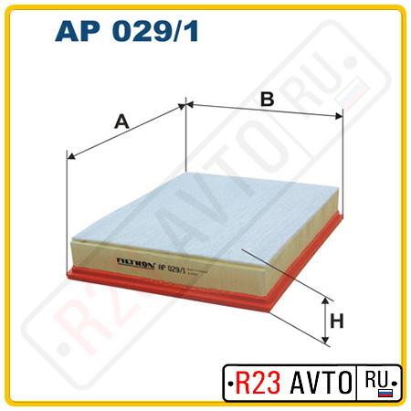 Воздушный фильтр FILTRON AP029/1