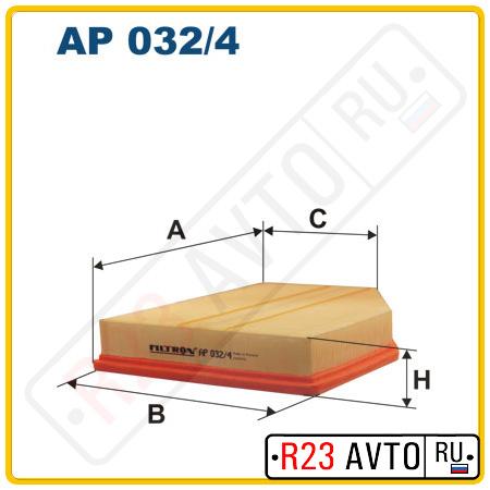 Воздушный фильтр FILTRON AP032/4