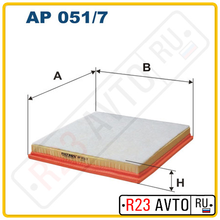 Воздушный фильтр FILTRON AP051/7