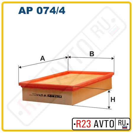 Воздушный фильтр FILTRON AP074/4