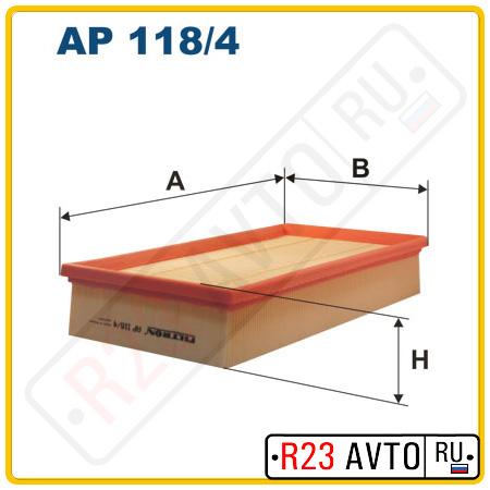 Воздушный фильтр FILTRON AP118/4