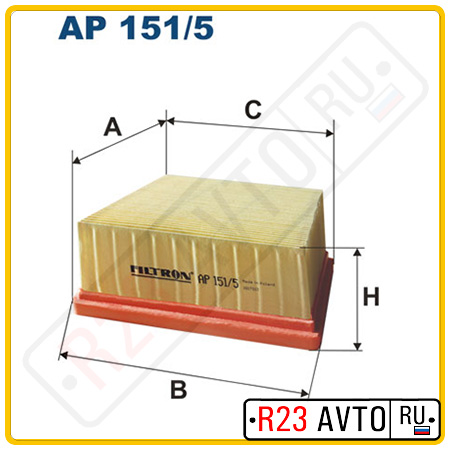 Воздушный фильтр FILTRON AP151/5