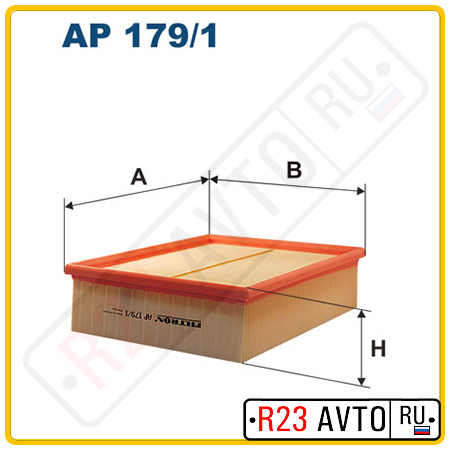 Воздушный фильтр FILTRON AP179/1