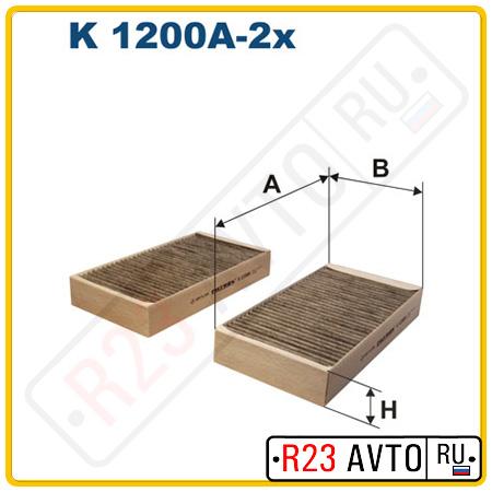 Фильтр салона FILTRON K1200A-2X (угольный)
