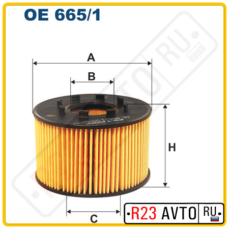 Масляный фильтр FILTRON OE665/1