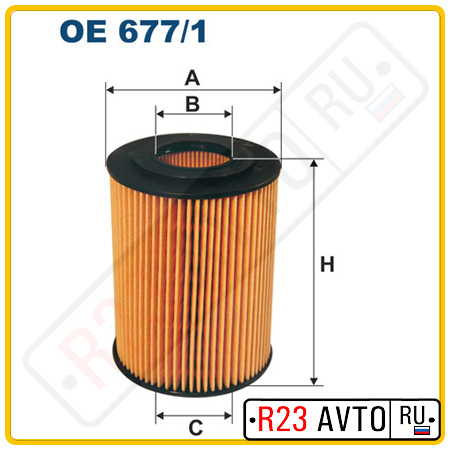 Масляный фильтр FILTRON OE677/1