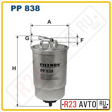 Топливный фильтр FILTRON PP838