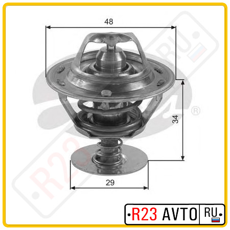 Термостат GATES TH39082G1 (TOYOTA Avensis, Camry, Corolla / NISSAN Almera N16, Primera P12)