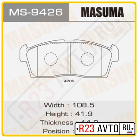 Колодки тормозные передние MASUMA MS-9426