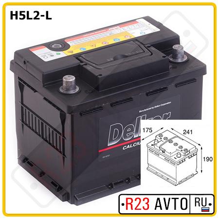 Аккумулятор 6CT-60 LOW COST 60Ah 450A L+ (242x175x190mm)