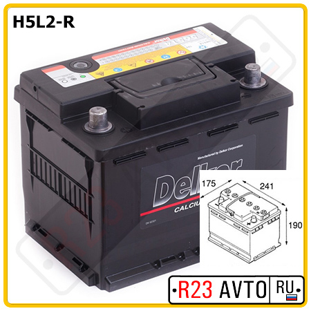 Аккумулятор 6CT-60 LOW COST 60Ah 450A R+ (242x175x190mm)