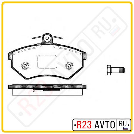 Колодки тормозные передние REMSA 0134.50