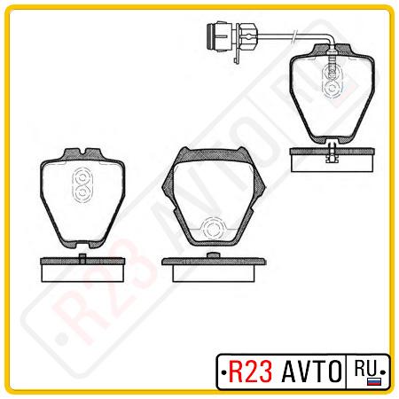 Колодки тормозные передние REMSA 0752.12