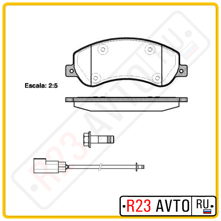 Колодки тормозные передние REMSA 1250.02 (FORD Transit/VW Amarok)