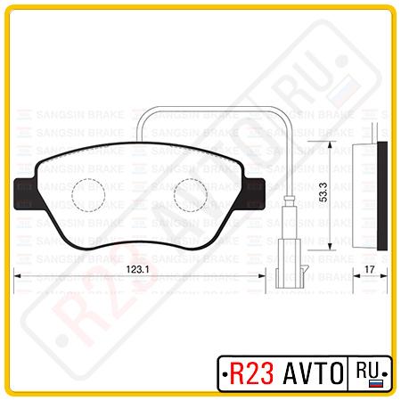 Колодки тормозные передние SANGSIN SP1201 (TOYOTA Camry/OPEL Corsa)