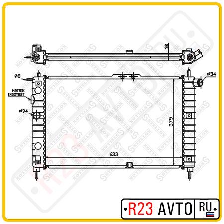 Радиатор STELLOX 10-25015-SX (DAEWOO Nexia)