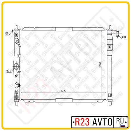 Радиатор STELLOX 10-25161-SX (DAEWOO Lanos)