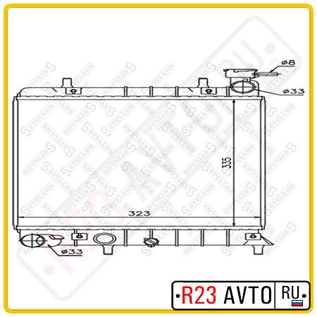 Радиатор STELLOX 10-25168-SX (HYUNDAI Accent)