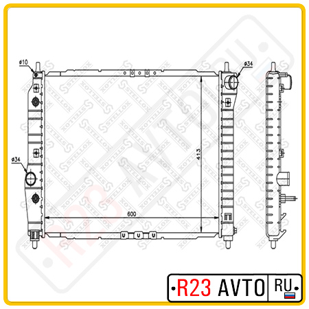 Радиатор STELLOX 10-25324-SX (CHEVROLET Aveo)